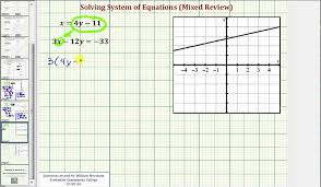 ex solve systems of linear equations using substitution mixed review all types
