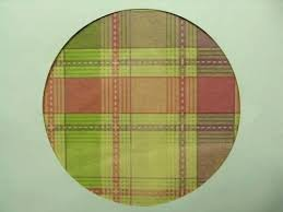 flannel backed vinyl tablecloth round multi color checked fabric bulk bac
