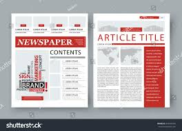 Magazine Newsletter Design Corporate Magazine Template Front Page Publishing Stock