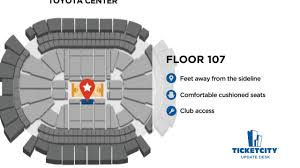 Houston Rockets Suite Seating Chart Toyota Center Seat Recommendations The Ticketcity Update Desk