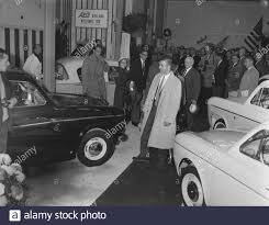 Sale of tax free cars at Schiphol Airport to tourists Date: 8 October 1958  Location: Noord-Holland, Schiphol Keywords: tourists, sell Stock Photo -  Alamy