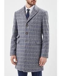 Купить серое <b>длинное пальто</b> в <b>клетку</b> - модные модели <b>длинных</b> ...