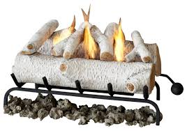 conversion birch log set for gel fuel fireplace 24