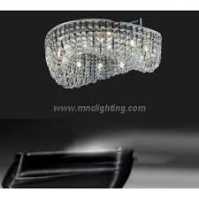modern round led k9 crystal chandelier ceiling pendant lamp