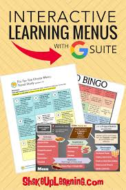 Differentiation In Art And Design Interactive Learning Menus Choice Boards Using Google Docs