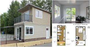 tiny house plan. This Modular Tiny House Can Be Delivered To You Fully Assembled! {Free Floor Plans} - Houses Plan