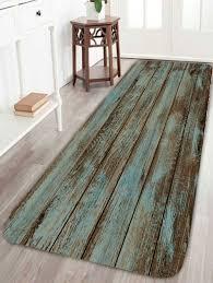 Wood Grain Print Bathroom Rug - GREEN W24 INCH * L71 INCH