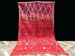 red moroccan trellis rug