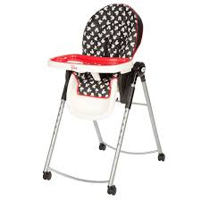disney adjule high chair mickey mouse silhouette hc230clv
