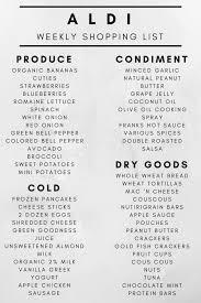Weekly Aldi Shopping List + A Week Of Dinner Ideas