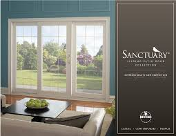 patio door. Perfect Patio Sanctuary Sliding Patio Door Collection Brochure In