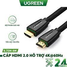 Cáp HDMI 2.0 hỗ trợ 3D, 4K, độ dài từ 1-8m UGREEN HD118