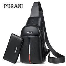 <b>PURANI Man</b> Sling Bag <b>Men Chest Pack</b> Messenger Bag <b>Men</b> ...