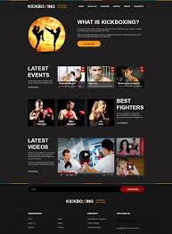 Design Gallery Live Website Design 47838 Kickboxing Sport Portal Custom Website