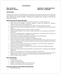 Sample Auditor Job Description - 10+ Examples In Word, Pdf