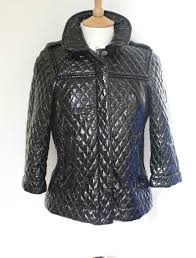 See by Chloé Black quilted faux patent leather jacket UK 6 ... & See by Chloé Black quilted faux patent leather jacket UK 6 Adamdwight.com