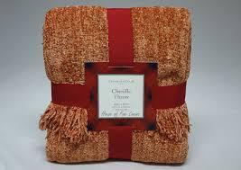 charter club blanket chenille throw orange x with orange throw blanket