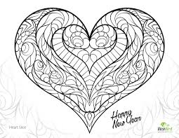 Free Heart Coloring Pages For Adults