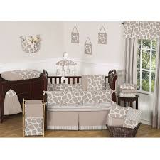 sweet jojo designs giraffe 9 piece crib bedding set for nursery decoration ideas