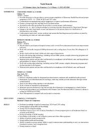 Medical Coder Resume Medical Coder Resume Samples Velvet Jobs Simple