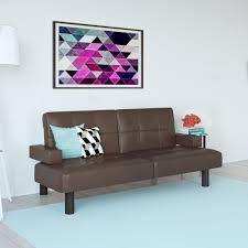 mainstays connectrix faux leather futon multiple colors