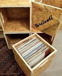 vinyl record holder wood crate vinyl record crate vinyl record storage cube box crate shelf portable