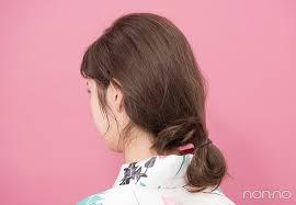 ゆかたのヘアアレンジロング大人編 簡単色っぽまとめ髪をチェック