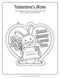 In honor of saint valentine, valentine's day is marked by the exchange of kids decorate classrooms with valentine's day coloring pages and exchange cards. Valentine Bunny Card Printable My Home Based Life