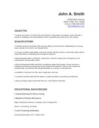 Objective For Resume Youth Worker Child Care Worker Cover Letter