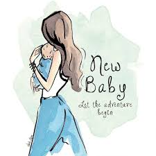 New Baby Blue Greeting Card