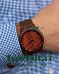 personalized minimalist engraved wooden watch with genuine leather mens watch groomsmen gift wood watch hut021