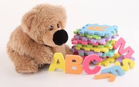 colorful toys toy development letters textile teddy bear stuffed toy plush