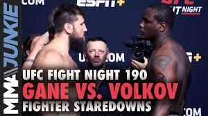 UFC Fight Night 190 full fight card ...