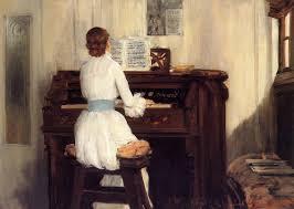 mrs meigs at the piano organ william merritt chase
