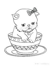 Cute Kittens Coloring Sheets Cute Kittens Coloring Pages Kitten