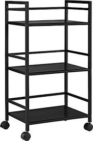 table on wheels. ameriwood home marshall 3 shelf metal rolling utility cart, black table on wheels