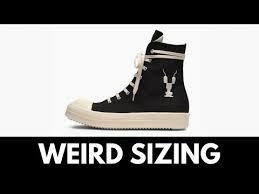 Rick Owens Shoe Size Chart Rick Owens Drkshdw Ramones Sizing Youtube