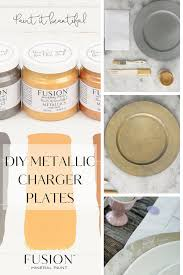 learn how to make your own metallic gold charger plates with fusion