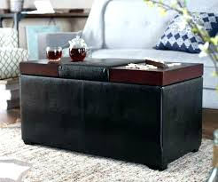 white leather ottoman coffee table storage fabulous small round wood with ottomans