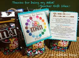 sle of thanks for being my m m teacher gift idea