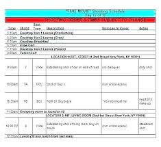 Schedule Document Template Shooting Schedule Template Best Excel Spreadsheet Schedule