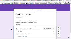 Choose Your Own Adventure Story Template Creating A Choose Your Own Adventure Story In Google Forms Youtube