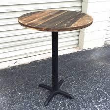 photos rustic round pub table longfabu