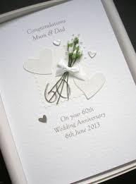 60th anniversary card personalised diamond wedding handmade gift boxed luxury