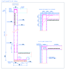 flat slab reinforced concrete wall connection joint floor mur beton arme