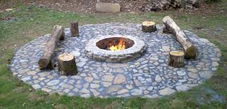 image of backyard in ground fire pit building an inground diy brick how to build
