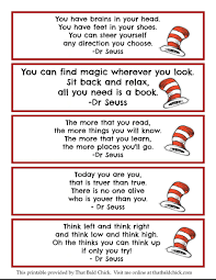 Printable animal bookmarks ~ print out these colorful animal bookmarks for free. 13 Dr Seuss Printables Free Bookmarks That Bald Chick
