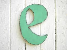 Vintage style wooden letter e small case alphabet by LettersofWood, $25.00