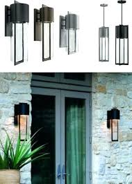 modern outdoor sconces. Modern Outdoor Sconces Lighting Shelter Collection Contemporary Wall Exterior Led Black . S