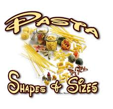 Pasta Names And Shapes